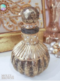 Gold Beaded Perfume Bottle