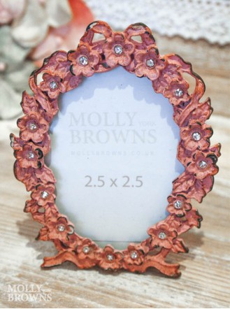 Mini Pink Floral Picture Frame