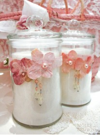 Shabby Chic Cotton Candle