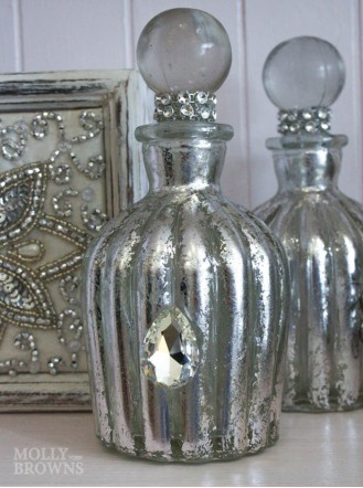 Silver Crystal Perfume Bottle