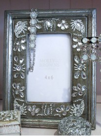 Silver Embellished Photo Frame