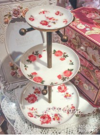 Three Tier Floral Jewellery Stand