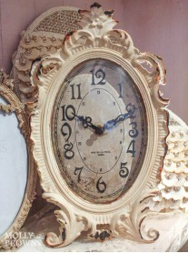 Vintage Style Cream Ornate Clock