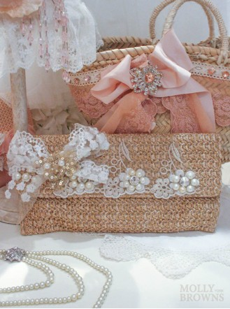 White Lace Clutch Bag