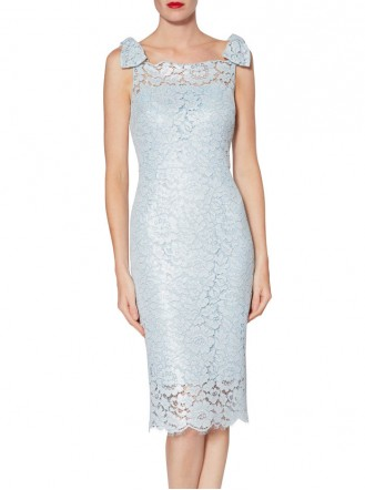 9002 Fitted Lace Dress - Blue (Gina Bacconi)