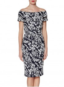 9030 Dress - Navy/White (Gina Bacconi)