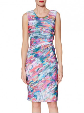 9224 Dress - Pink/Blue Multi (Gina Bacconi)