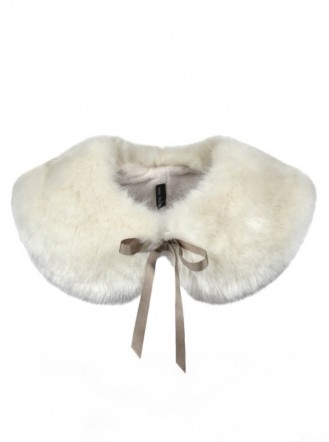 Faux Fur Peter Pan Collar - Ermine