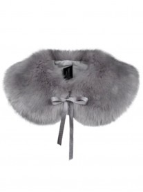 Faux Fur Peter Pan Collar - Opal