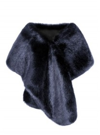 Faux Fur Stole - Midnight