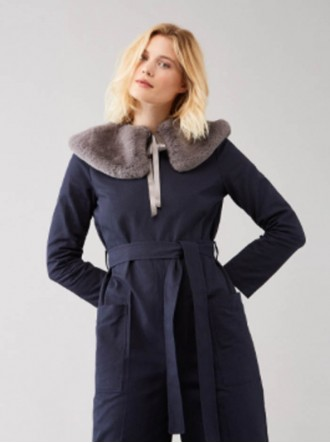 Faux Fur Vincent Collar - Dove