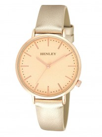 Rose Gold Watch - Leather Strap