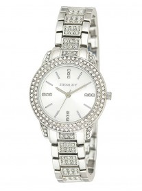 Diamante Silver Watch - Wide Silver Strap