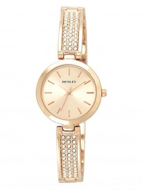 Diamante Rose Gold Watch - Rose Gold Strap