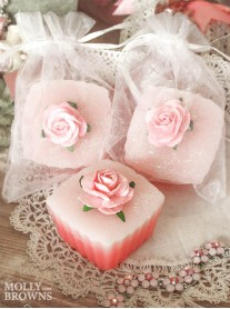 Fragranced Pink Glittery Soap (My English Summer)