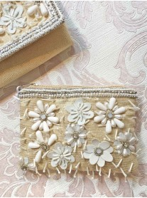 3D Daisy Embellished Purse