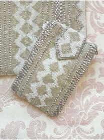 Silver Aztec Embellished Phone/Glasses Case