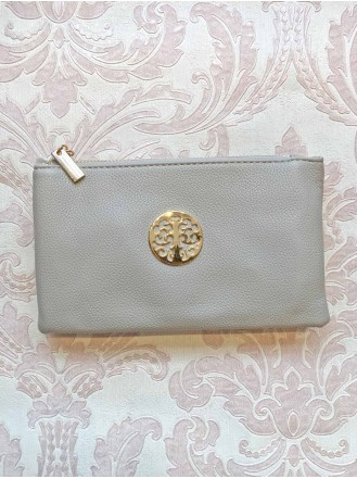 Grey Gold Purse/Bag