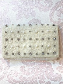 Pearl and Diamante Clutch Bag