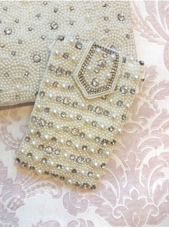 Pearl and Diamante Phone/ Glasses Case