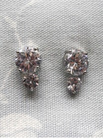 Large & Small Crystal Stud Earrings