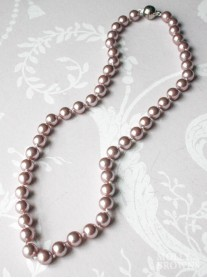 Small Pearl Necklace - Blush