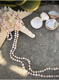 Sea Peals Necklace - Pink