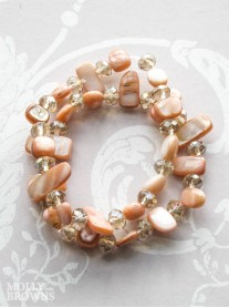 Blush Pebble Bracelet Set