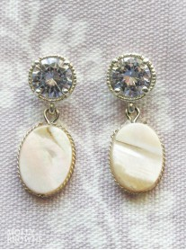 Diamante Marble Drop Earrings