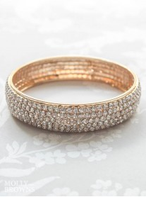 Gold Diamante Bangle Bracelet