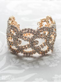 Gold Diamante Swirl Bracelet