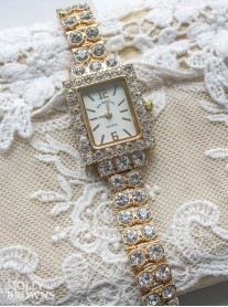 Gold Diamante Watch
