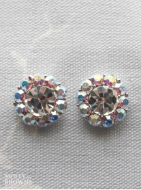 Large Daisy AB Crystal Stud Earrings