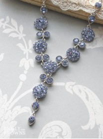 Large Daisy Light Sapphire Crystal Necklace