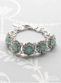 Large Daisy Mint Crystal Bracelet