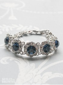 Large Daisy Navy Crystal Bracelet
