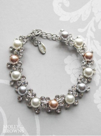 Multi Pearl & Diamante Bracelet