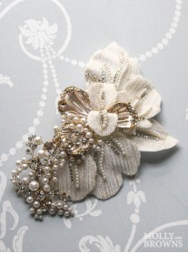 Petal Gold & Diamante Hair Clip