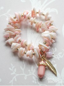 Pink & Gold Pebble Bracelet