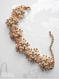 Rose Gold Diamante Flower Bracelet