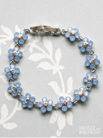 Small Daisy Blue Opal Crystal Bracelet