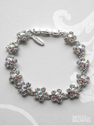 Small Daisy Clear/AB Crystal Bracelet