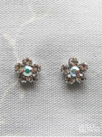Small Daisy Clear/AB Crystal Stud Earrings