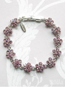 Small Daisy Light Amethyst Crystal Bracelet