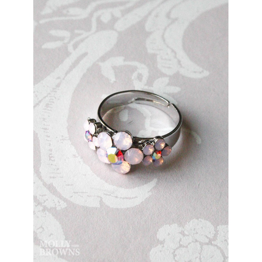 Small daisy pink opal 3 flower ring jewellery by molly browns small daisy pink opal 3 flower ring izmirmasajfo