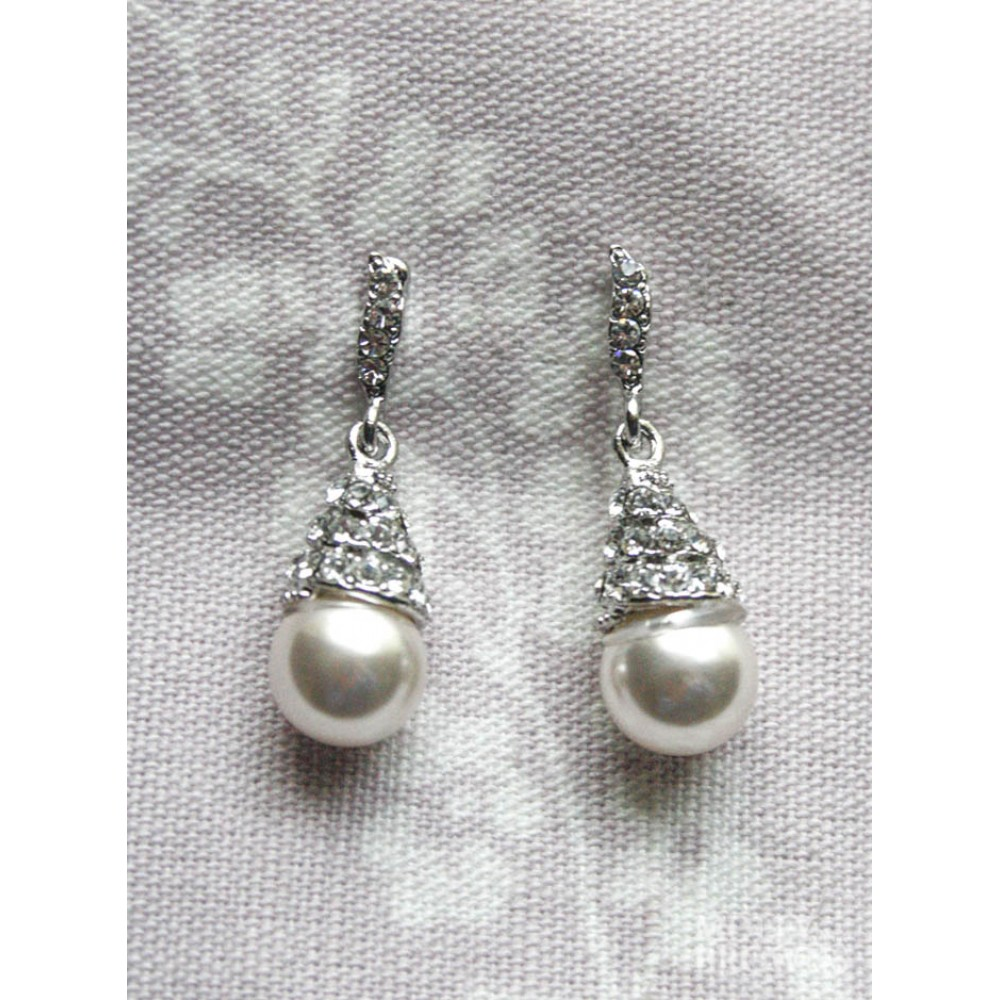 mini skull pearl single catbird miniskull earring earrings