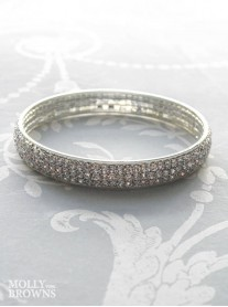 Silver Diamante Bangle Bracelet