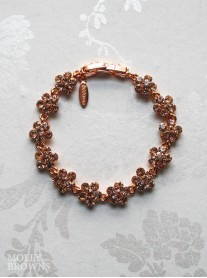 Small Daisy Rose Gold Crystal Bracelet