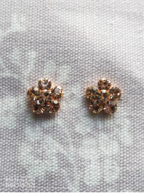 Small Daisy Rose Gold Crystal Stud Earrings