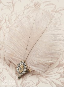 Vintage Diamante Feather Hair Clip